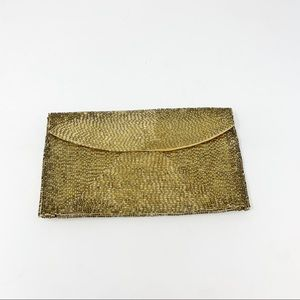 VTG Walborg Japan Gold Beaded Envelope Clutch